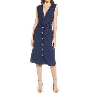 Rails Alice Button Front Linen Blend Dress New